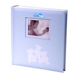 Exkluzivní dětské fotoalbum 10x15/200 foto LUCKY BEARS modré