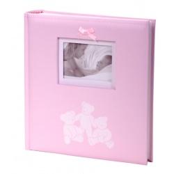 Exkluzivní dětské fotoalbum 10x15/200 foto LUCKY BEARS růžové
