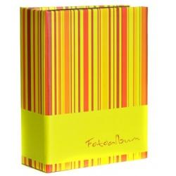 Fotoalbum 10x15/100 foto černé listy PATTERN mix žluté