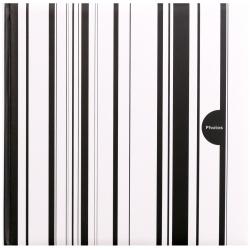 Fotoalbum na růžky COLOR STRIPES 30x30/100s. černé