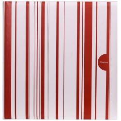 Fotoalbum na růžky COLOR STRIPES 30x30/100s. červené