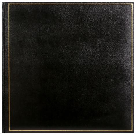 Klasické fotoalbum na růžky 35x35cm/100s. TRADITION černé