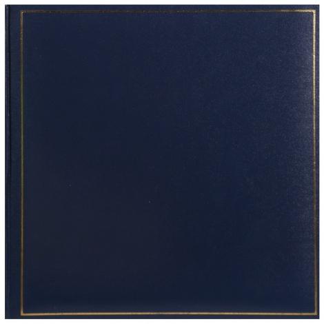 Klasické fotoalbum na růžky 35x35cm/100s. TRADITION modré