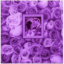 Fotoalbum na růžky 30x30/100s. ANYWHERE ROSES fialové
