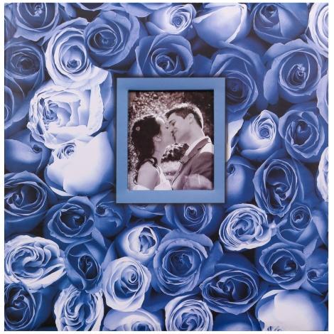Fotoalbum na růžky 30x30/100s. ANYWHERE ROSES modré