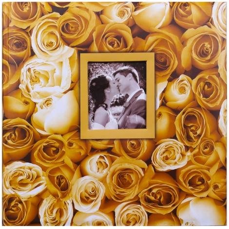 Fotoalbum na růžky 30x30/100s. ANYWHERE ROSES žluté
