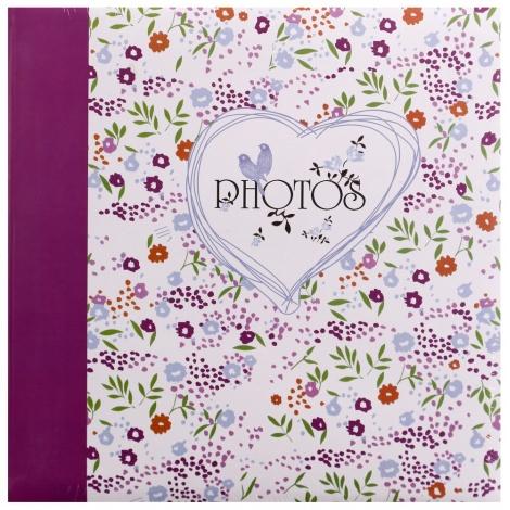 Fotoalbum na růžky FIELD OF FLOWER 30x30/100s. vínová
