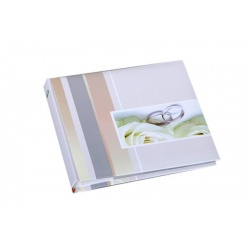 Svatební fotoalbum 13x18/50foto popis WEDDING prsteny
