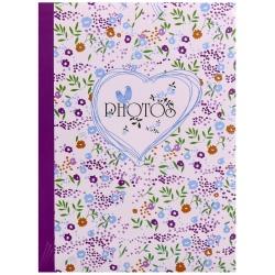 Fotoalbum 10x15/100 foto FIELD OF FLOWERS vínová