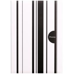 Fotoalbum 10x15/200 foto pop. COLOR STRIPES černé
