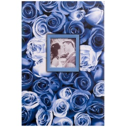 Fotoalbum 10x15/400 foto pop. ANYWHERE ROSES modré
