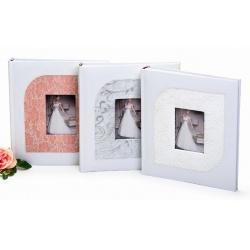 Svatební fotoalbum na růžky JUST MARRIED bílé