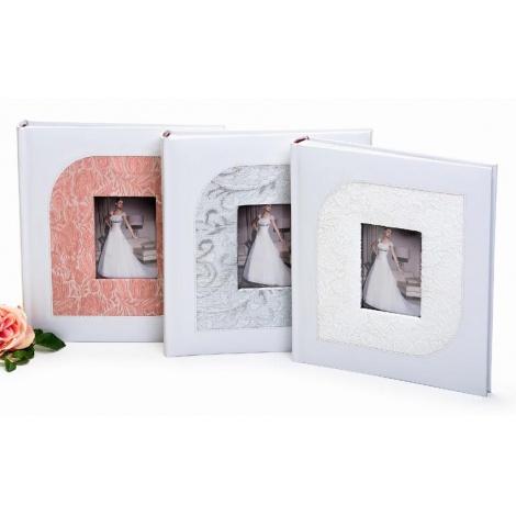 Svatební fotoalbum na růžky JUST MARRIED stříbrné