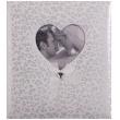 Svatební fotoalbum na růžky HAPPY END 29x32/60s. bílé