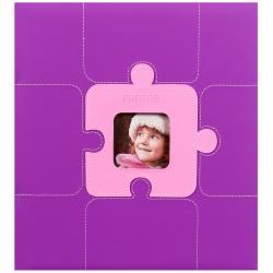 Fotoalbum na růžky PUZZLE 29x32/60 fialové