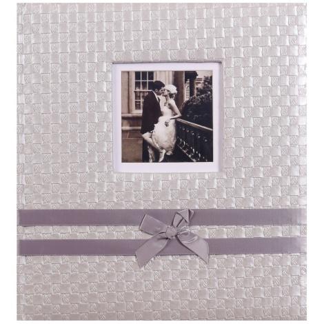 Svatební fotoalbum na růžky Now and Forever stříbrné