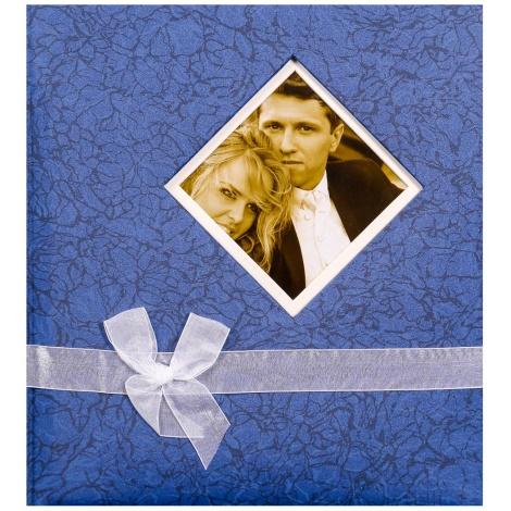 Svatební fotoalbum na růžky BLEEDING HEART modré