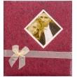 Svatební fotoalbum na růžky BLEEDING HEART vínová