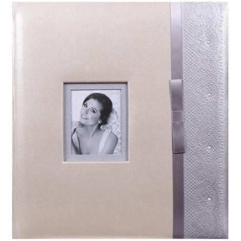 Svatební fotoalbum na růžky FAIRY TALE stříbrné
