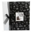 Svatební fotoalbum 29x32/60s. PETITE AMOUR černá mašle