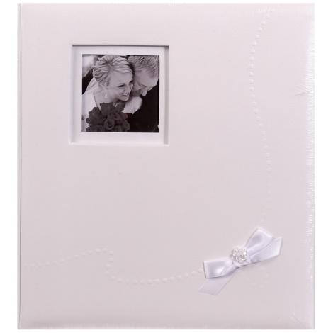 Svatební fotoalbum na růžky WEDDING  KISS  29x32/60s. bílé