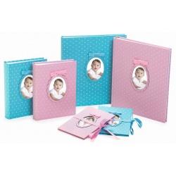 Dětské fotoalbum na růžky YOUNG CHILD 29x32/60s. světlé modré