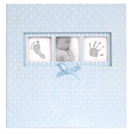 Modré dětské fotoalbum Baby Polka Dot 10x15/200F