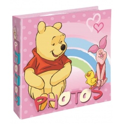 Dětské DISNEY fotoalbum 10x15/200 Medvídek Pů růžové