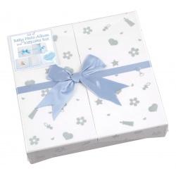 Modré dětské fotoalbum Baby nursery 10x15/200F popis modré