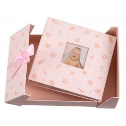 Modré dětské fotoalbum Baby nursery 10x15/200F popis růžové