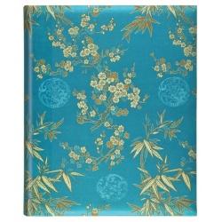Luxusní samolepící fotoalbum 26x32,5/50s. Blossom modré