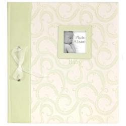 BABY TRADITIONAL klasické dětské fotoalbum 28x32/60s. zelené
