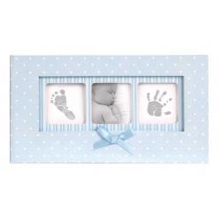Modré dětské fotoalbum 10x15/100f BABY POLKA DOT