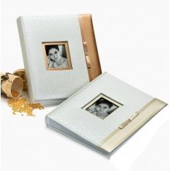 Svatební fotoalbum 13x18/200 GLAMOUR stříbrné