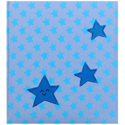 Dětské fotoalbum na růžky BABY STAR modré
