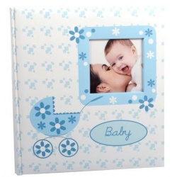 Dětské fotoalbum na růžky BABY BUGGY modré