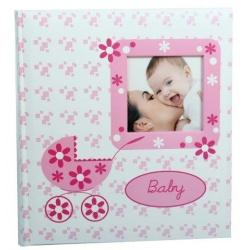 Dětské fotoalbum na růžky BABY BUGGY růžové