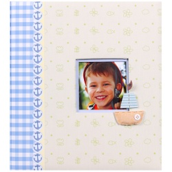 Dětské fotoalbum na růžky LES ENFANTS  modré