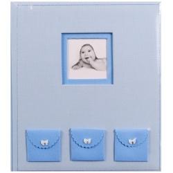 Dětské fotoalbum na růžky BEBE modré