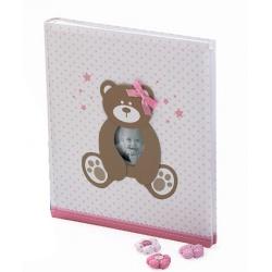 Dětské fotoalbum na růžky HAPPY TEDDY 29x32/60  růžové