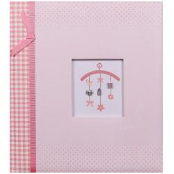 Dětské fotoalbum na růžky BABY MOBILEE růžové