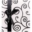 Fotoalbum na růžky 29x32/60s. BLACK AND WHITE černá stužka