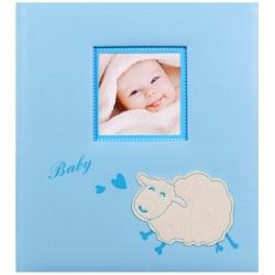 Dětské fotoalbum na růžky BABY SHEEP modré