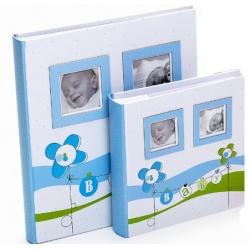 Dětské fotoalbum na růžky LUCKY BABY 29x32/60  modré