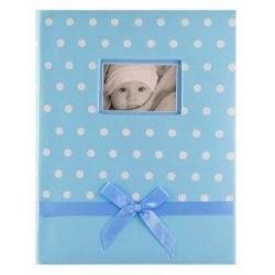 Dětské fotoalbum 10x15/200 DOTS modré