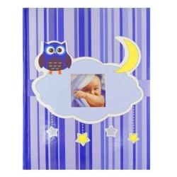 Dětské fotoalbum 10x15/300 OWL modré