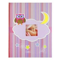 Dětské fotoalbum 10x15/300 OWL růžové