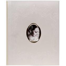 Svatební fotoalbum na růžky 22x27/40s. bílé