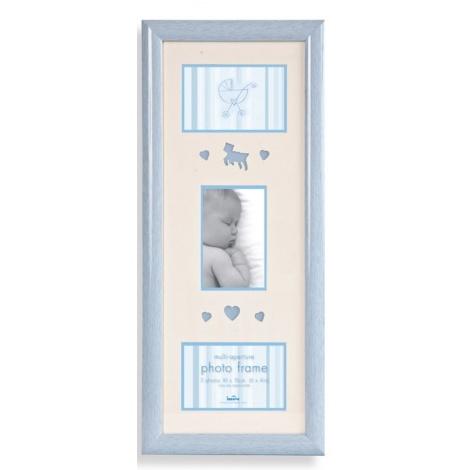 Dětský fotorámeček na 3 fotografie 10x15 Baby Brights modré