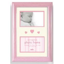 Dětský fotorámeček BABY BRIGHTS 2x10x15cm růžový